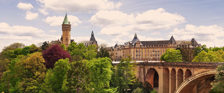 Schöne Aussicht auf Luxemburg