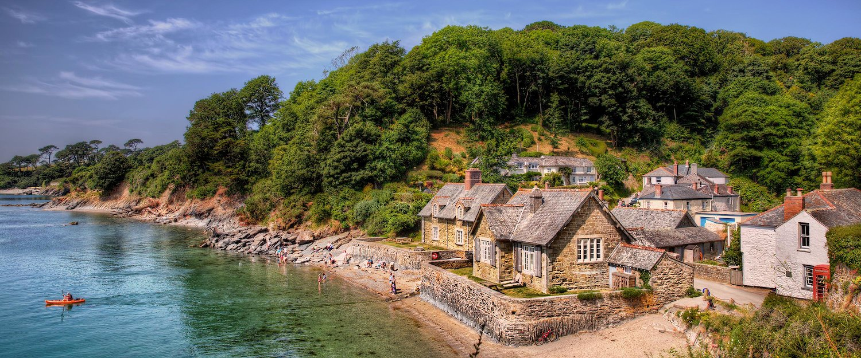 Idyllic village in Cornwall