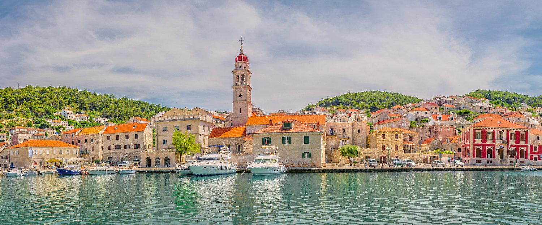 coastal town Pučišća on the island of Brac