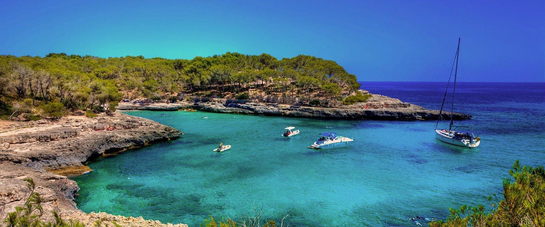 Mar Cristalino Característico da Ilha de Maiorca