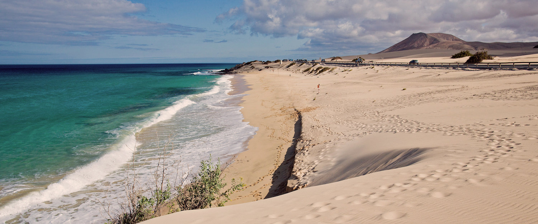 Eindeloze zandduinen in Corralejo