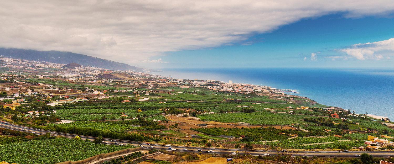 Gezicht op de stad Orotava op Tenerife