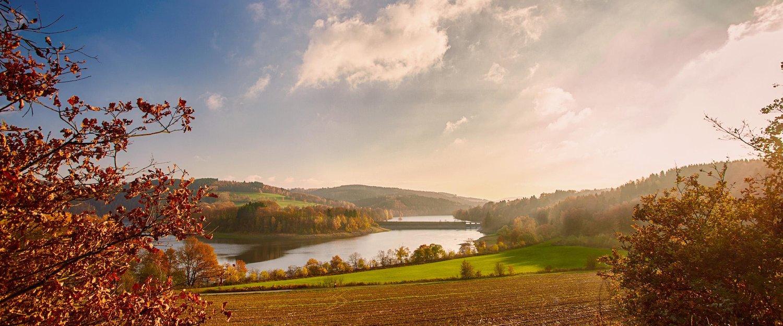 Traumhafte Herbstlandschaft im Sauerland