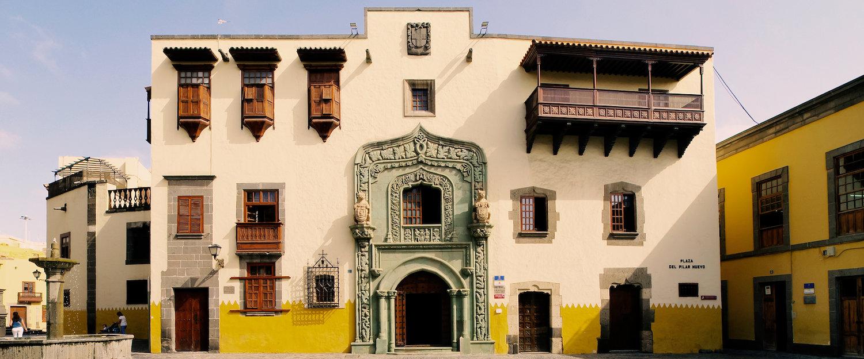 La casa de colon en Las Palmas de Gran Canaria