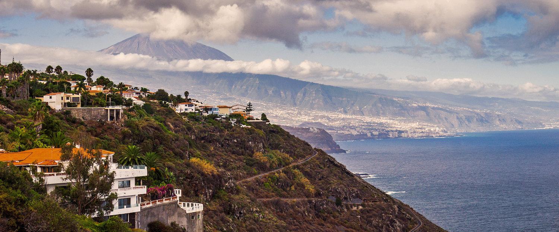 Luchtfoto van noordelijk Tenerife