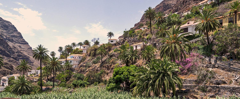 El paisaje típico de La Gomera