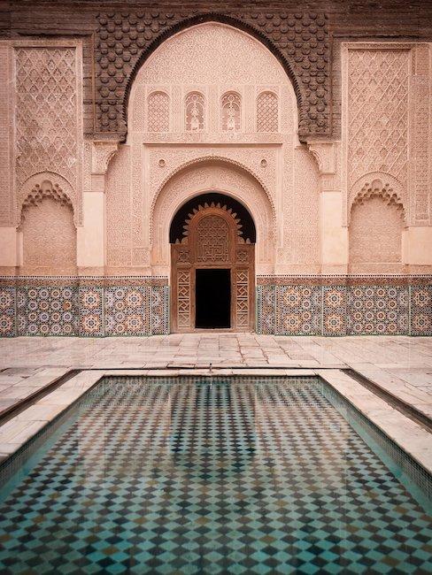 Ehemalige Koranschule Medersa Ben Youssef in Marrakesch