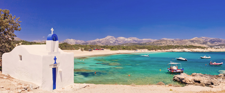 Kleine kapel aan de baai van Naxos