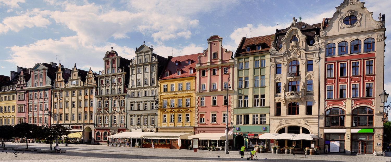 Kamienice przy wrocławskim Rynku