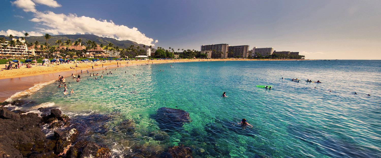 Schöner Strand auf der Insel Maui