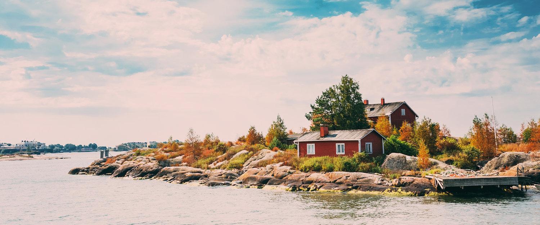 Hafen in der Nähe von Helsinki