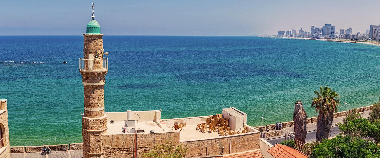 Ausblick auf das Meer von Tel Aviv