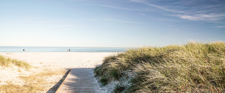 En strand på Bornholm