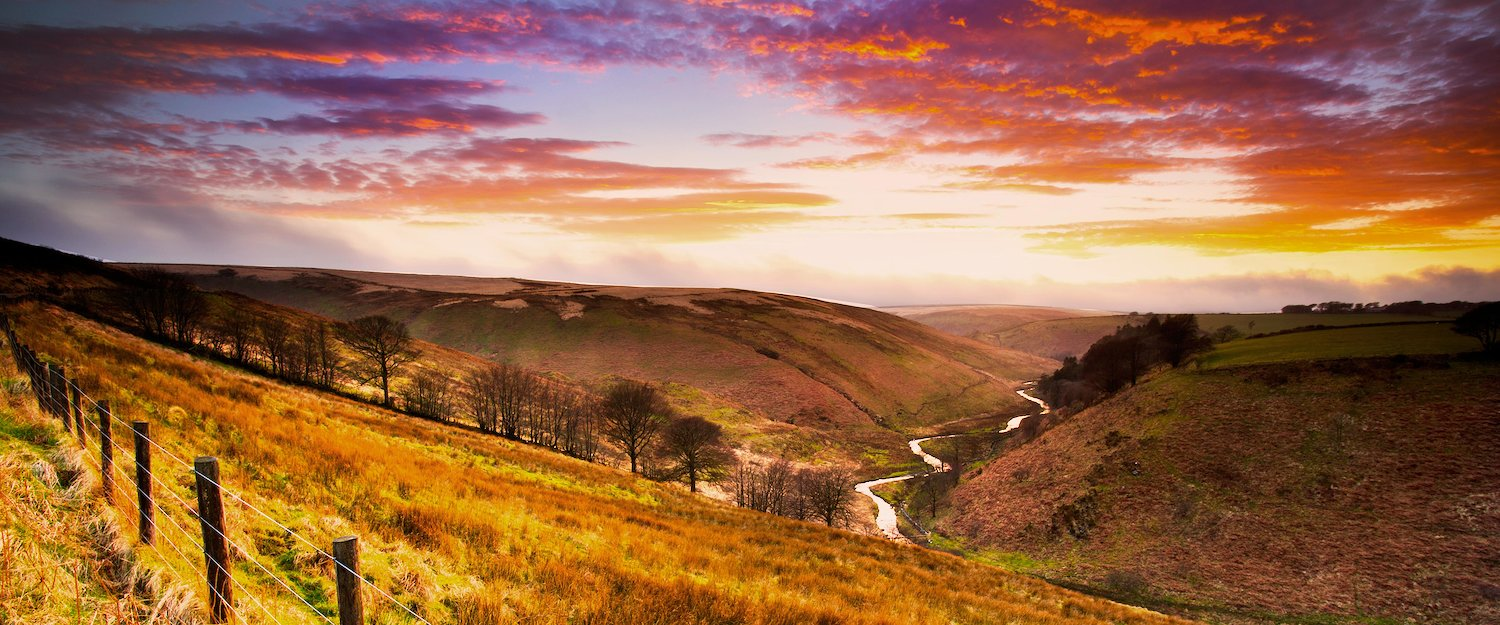 The colourful landscape of Exmoor National Park