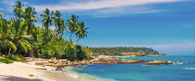 Paradiesisches Ambiente an einer Bucht nahe von Beruwala