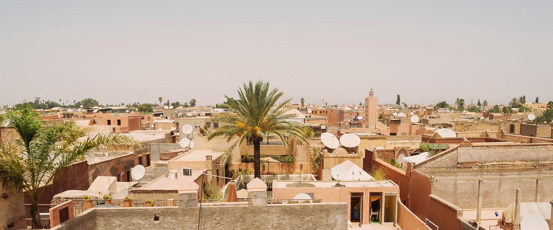 Dachspitzen von Marrakesch