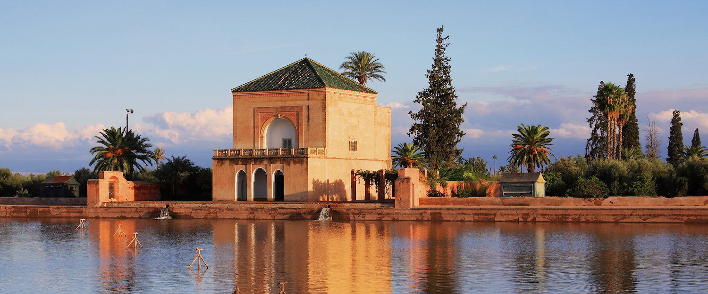 Menara Gardens and Pavilion in Marrakesch