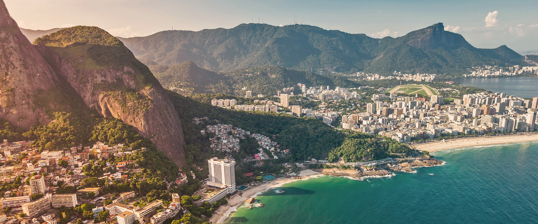 Beeindruckendes Rio de Janeiro aus der Vogelperspektive
