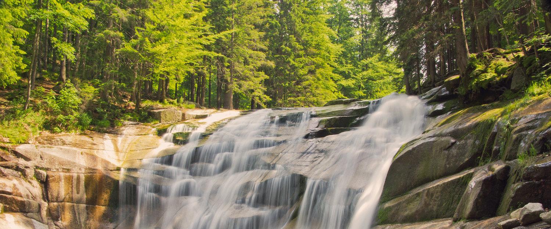 Imponujący wodospad Mumlavy