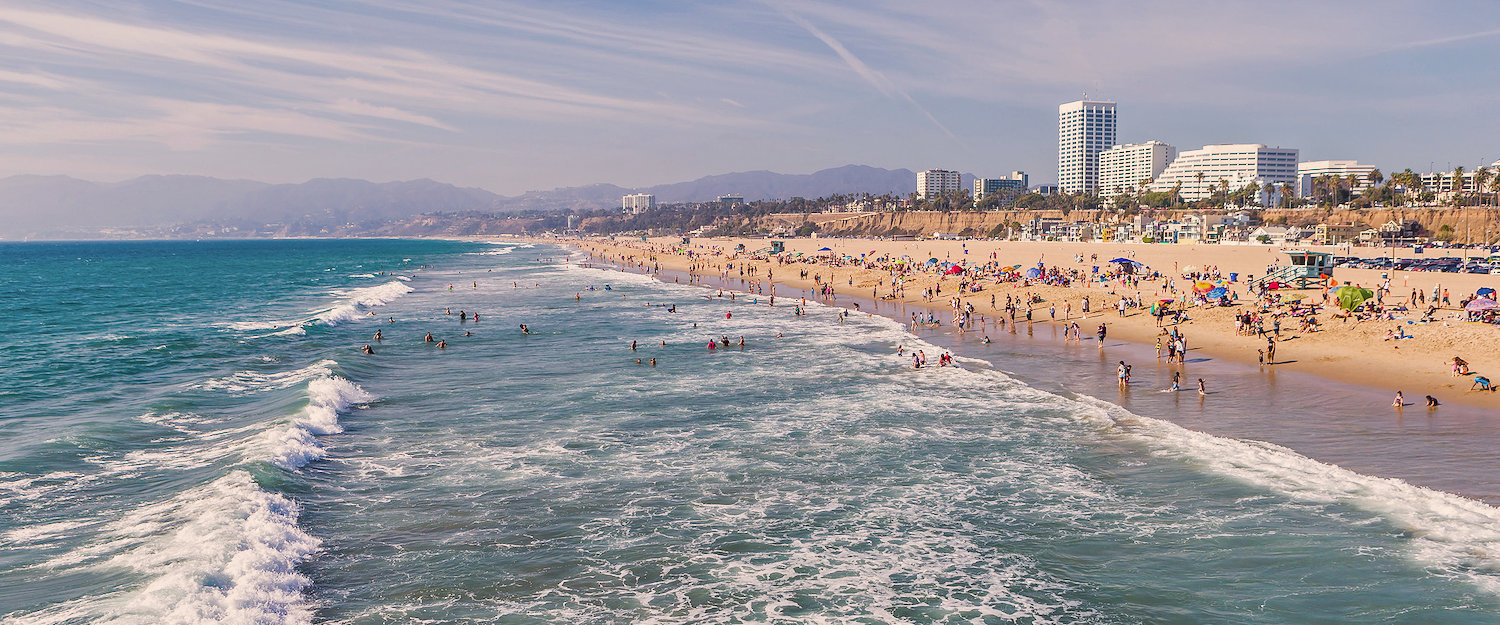 The beautiful sandy beach of Santa Monica