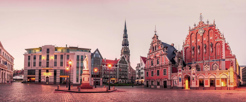 Altstadt mit Rathaus in Riga
