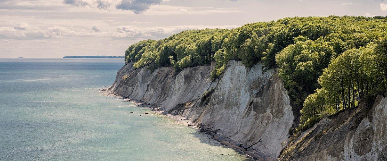 Der Blick auf die Küste.