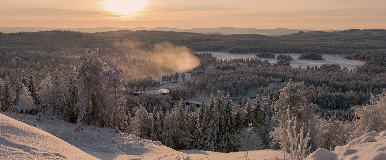 Vinterlandskap i Dalarna