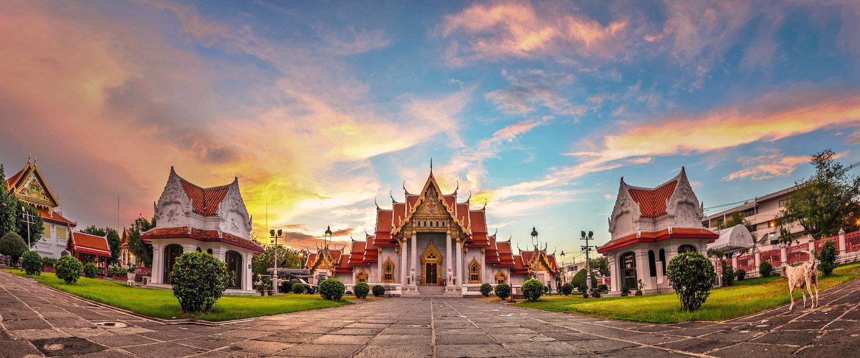 "Der Marmor-Tempel ""Wat Benchamabopitr Dusitvanaram"""