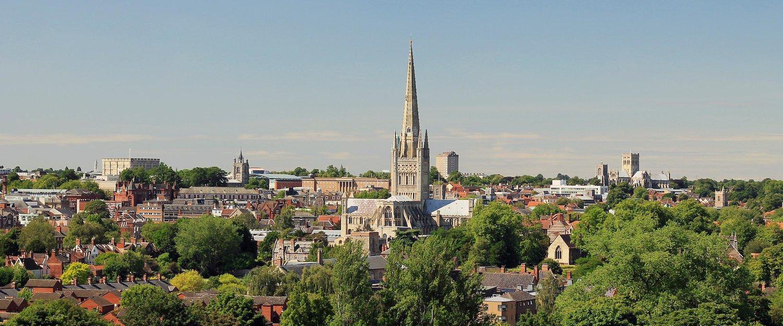 The beautiful city of Norwich