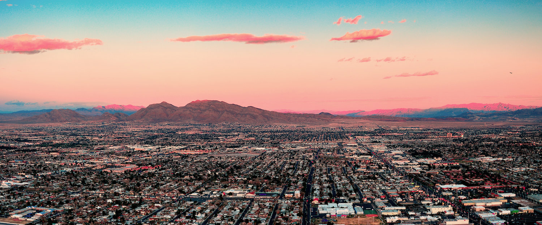 Las Vegas bei Sonnenuntergang