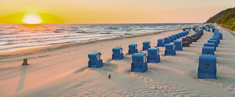 Sonnenuntergang am Strand auf Rügen