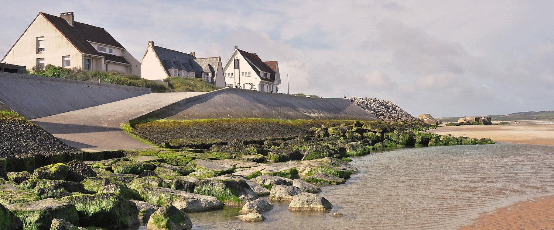 Häuser am Meer in Wissant