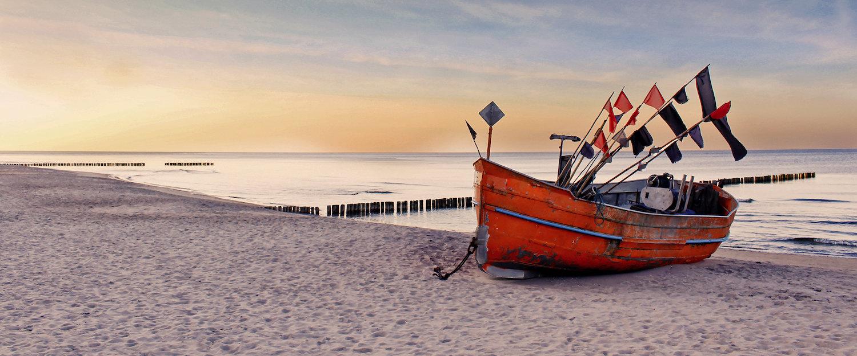 Piękna, piaszczysta plaża w Darłowie