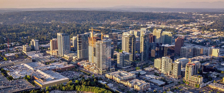 Bellevue aus der Vogelperspektive