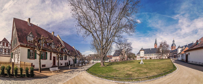Gartenanlage im Kloster Seligenstadt