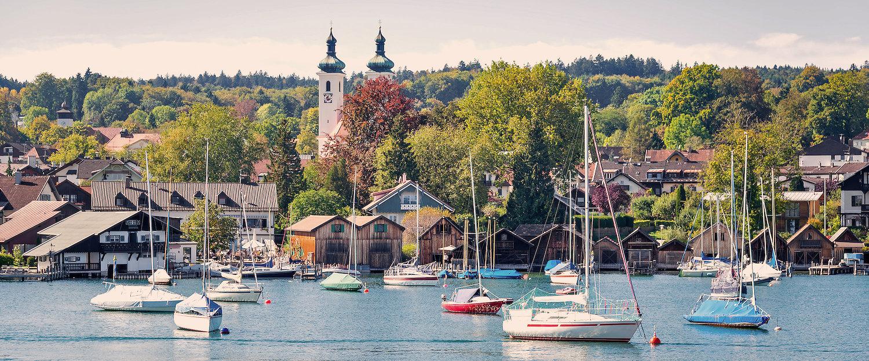Blick auf Tutzing und den Starnberger See