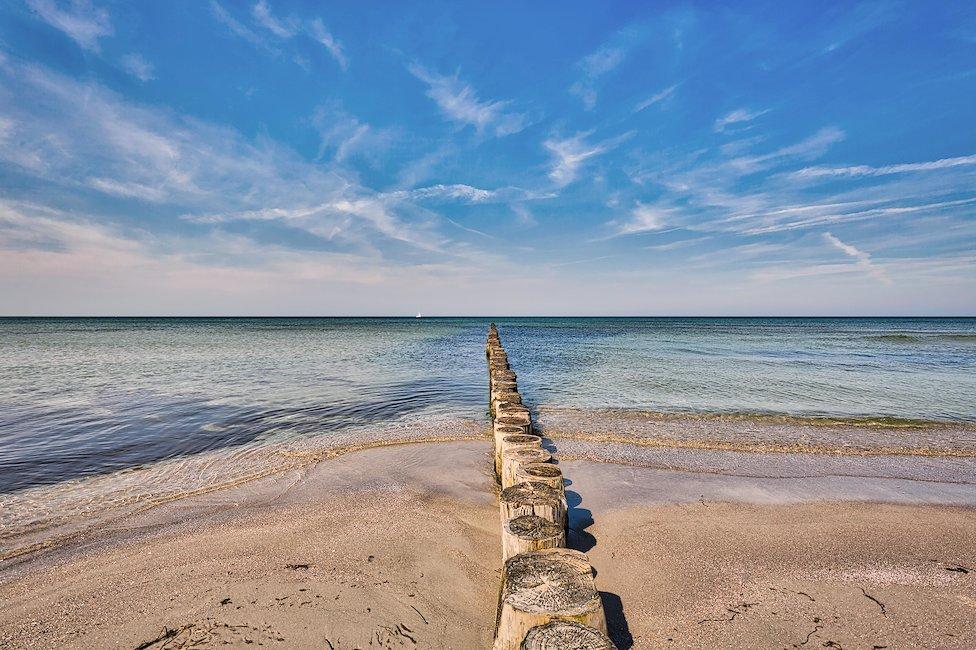 Der Strand von Hiddensee.
