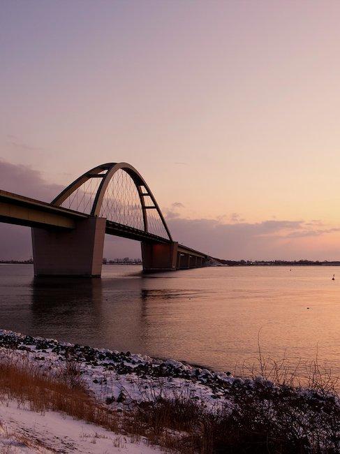 Die bekannte Fehmarnsundbrücke.