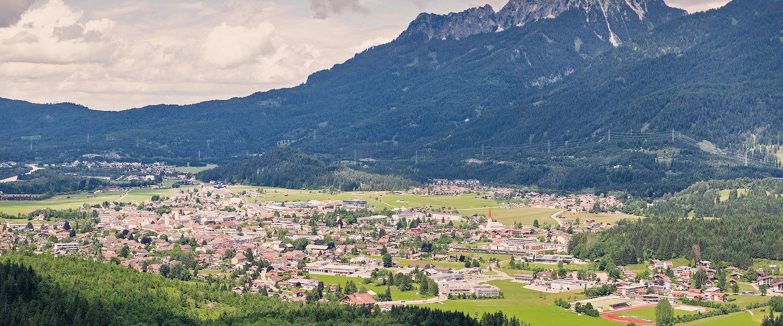Marktplaats Reutte in de Alpen