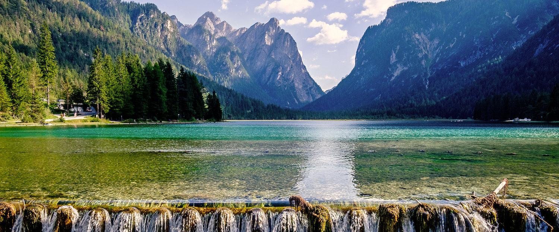 Tiroler Alpenlandschaft um den Toblacher See