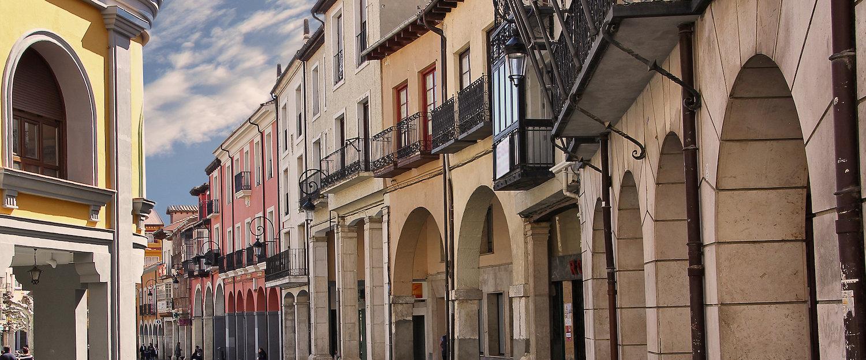 Fachadas en el casco antiguo de Aranda del Duero