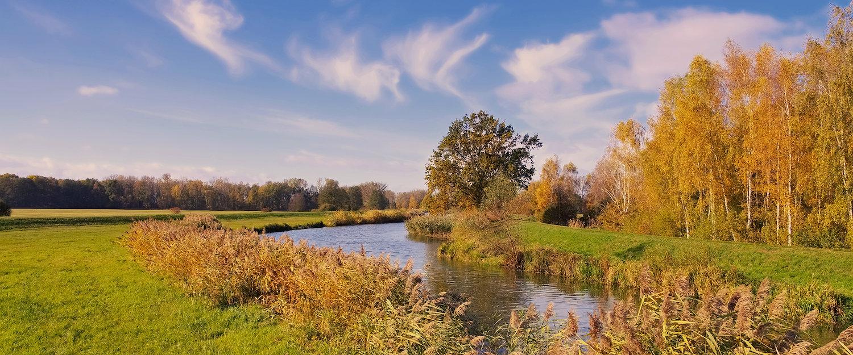 Idyllisch landschap rond Cottbus