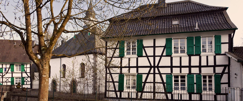 Typische Fachwerkhäuser in Hagen