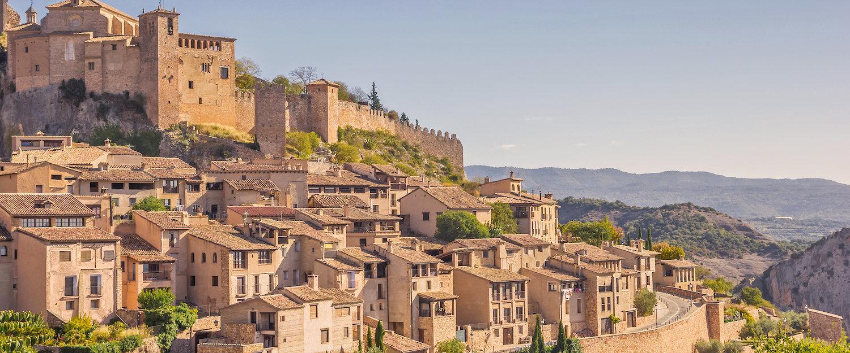 Vista del pueblo medieval de Alquézar