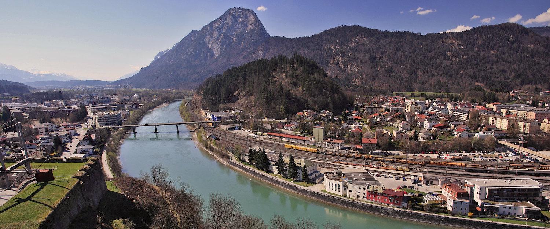 Panoramisch uitzicht op Kufstein