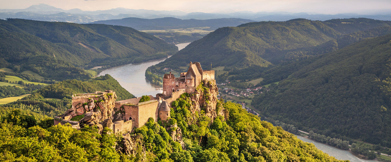 Die Burgruine Aggstein in Wachau