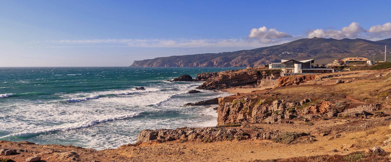 Rocky landscape at the coast of Cascais