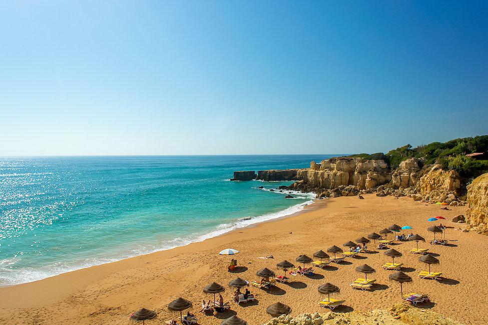 La famosa Praia do Castelo en el Algarve