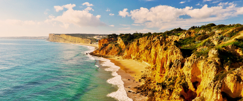 Herrliche Felsenlandschaft an der Algarve