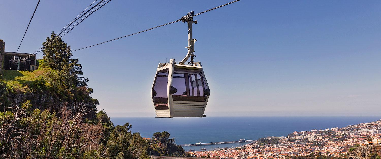 Populair bij toeristen: de kabelbaan van Funchal naar Monte